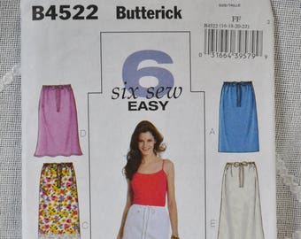 Butterick 4522 Sewing Pattern Misses Skirts Size 16 18 20 22 DIY Fashion Sewing Crafts PanchosPorch