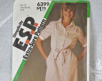 Simplicity 6399 Sewing Pattern Misses Shirtwaist Dress Size 10 12 14 DIY Fashion Sewing Crafts PanchosPorch