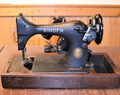 Vintage Singer Model 128 Sewing Machine with Bentwood Cover No Key Electric AL127984 PanchosPorch