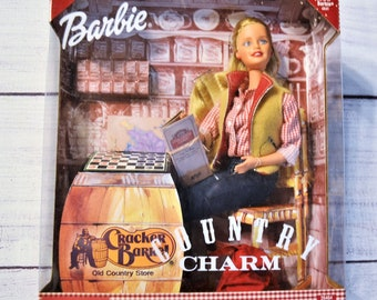 Vintage Country Charm Barbie Doll 2000 Blonde Checkers Cracker Barrel Collectible Barbie Doll Mattel PanchosPorch