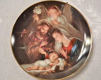 An Angels Message Promise of a Savior Collectible Plate Bradford Exchange Numbered Limited Edition Christmas PanchosPorch