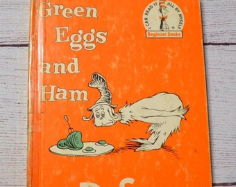 Green Eggs and Ham Book by Dr. Seuss Classic Childrens Hardcover Illustrated Vintage Used Book PanchosPorch