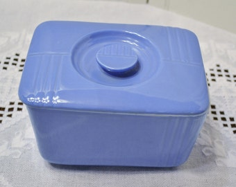 Vintage Westinghouse Refrigerator Box Food Storage Blue with Lid Hall China PanchosPorch