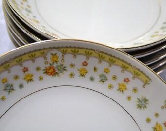 Garden Bouquet 10-38 Dinner Plate Set of 4 Fine China 4078 Japan