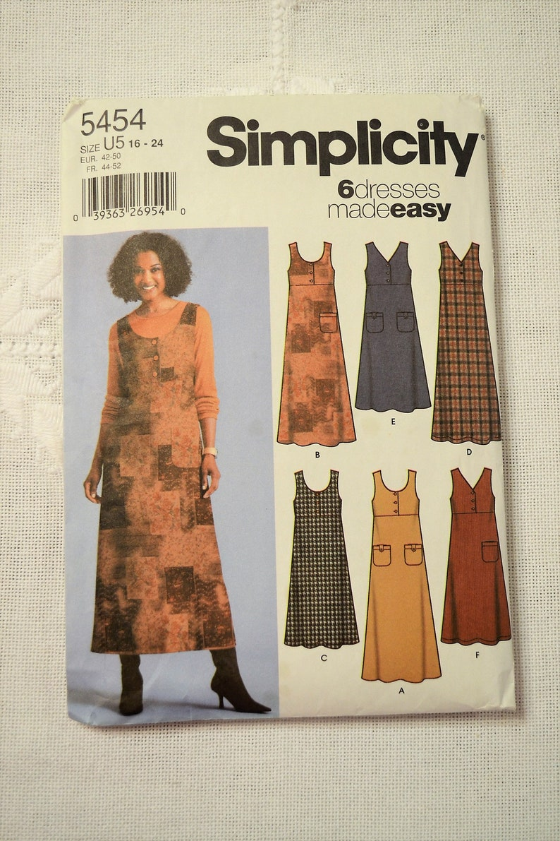 Simplicity 5454 Sewing Pattern Misses Jumper with Bodice image 0
