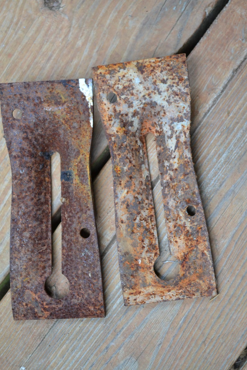 Vintage Rusty Metal Pieces Set of 2 Old Hardware Found ...