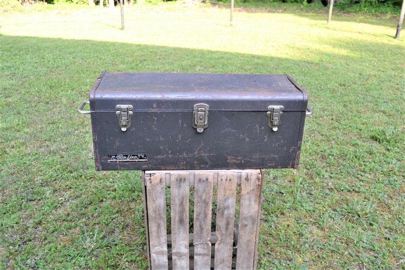 Vintage Remline Toolbox Liftout Tray Gray Heavy Duty Gray image 0