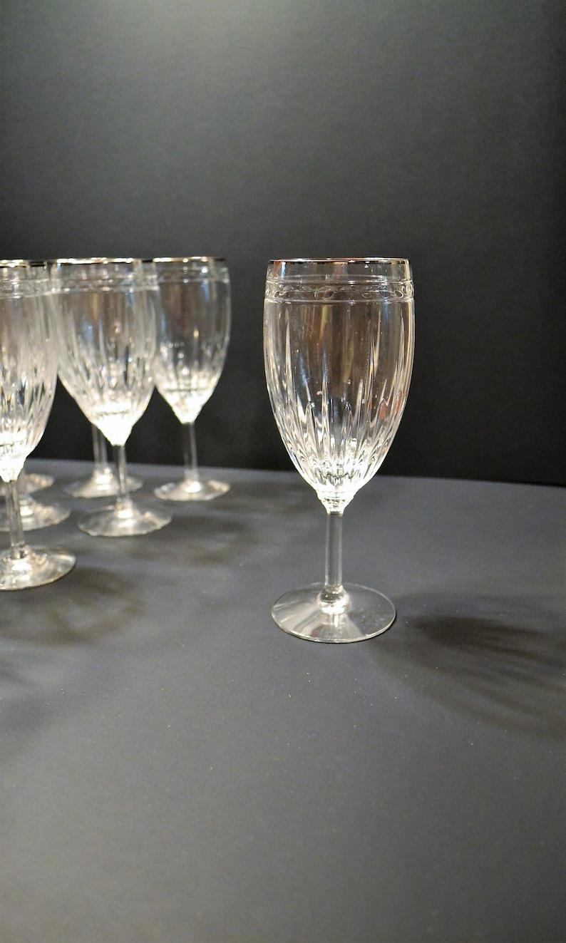 1ff3a4a9e95 Vintage Lenox Ambassador Iced Tea Crystal Glass Set of 12 Gold