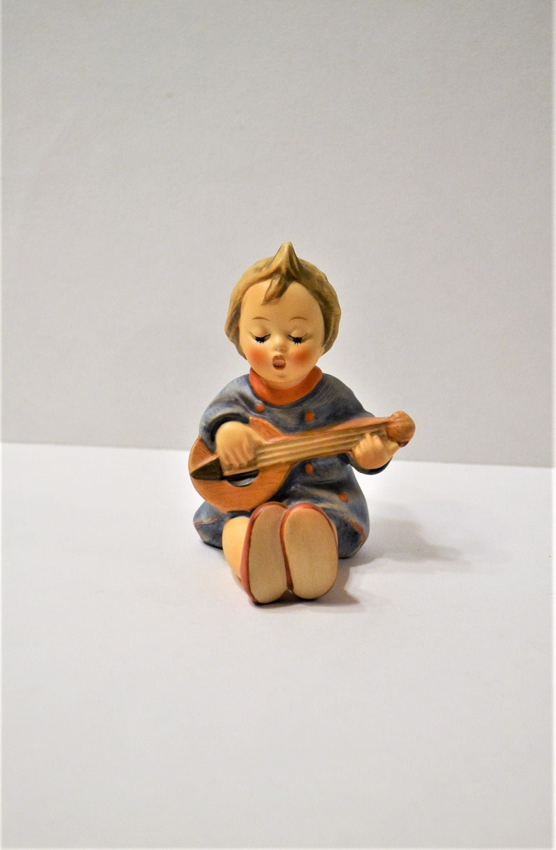 Vintage Hummel Joyful Figurine Goebel TMK6 Girl Playing Guitar image 0