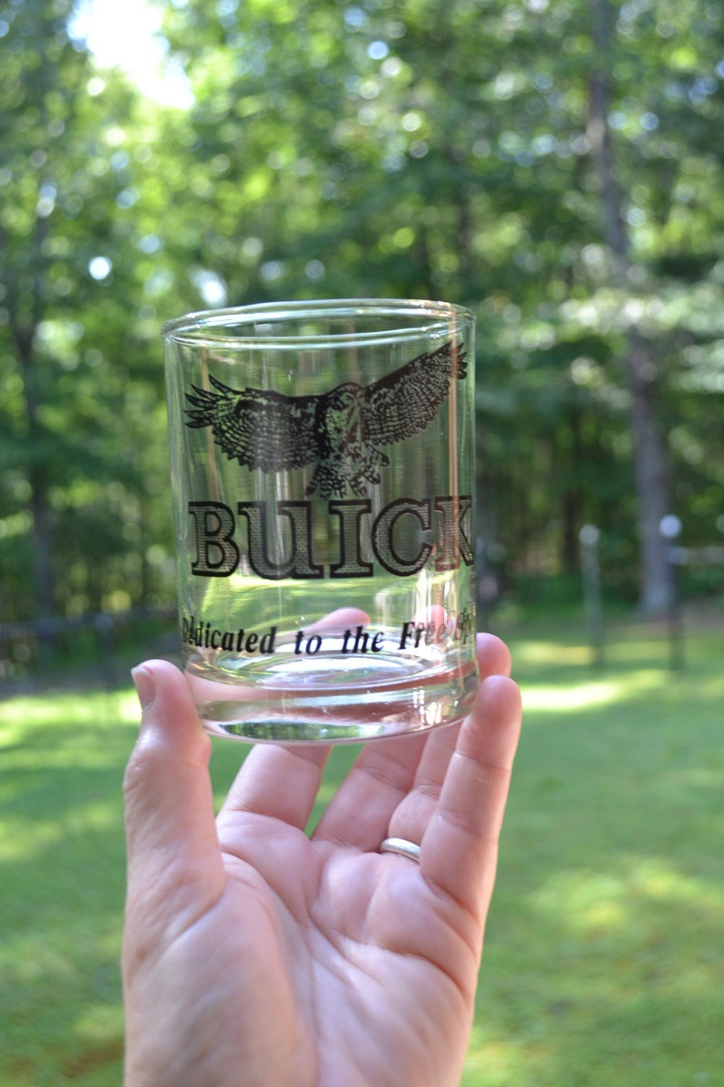 Vintage Buick Glass Tumbler Set of 8 Dedicated to the Free image 0