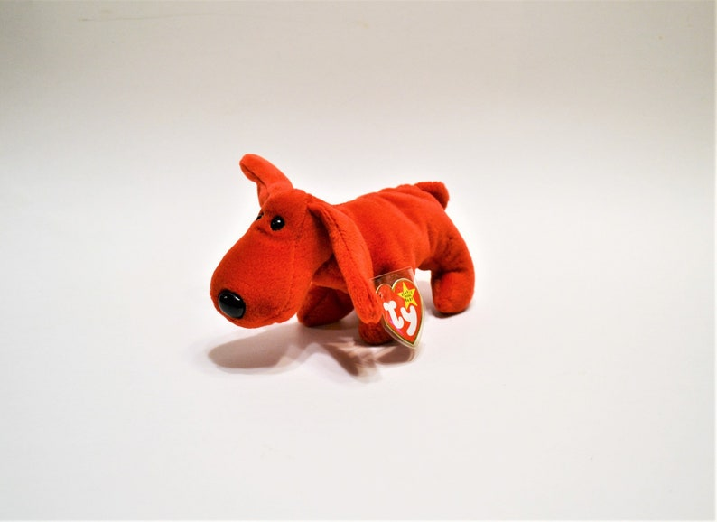 Vintage Ty Rover Beanie Baby Plush Toy Red Dog Puppy image 0