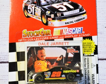 Vintage Dale Jarrett 28 Diecast Car 1/64 Scale 1995 Trading Card Stock Car Racing Champions NASCAR Memorabilia Panchosporch