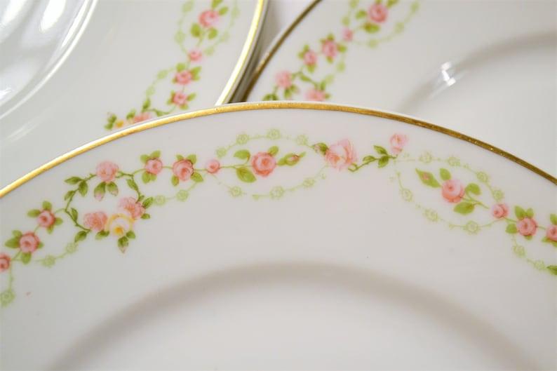 Vintage Theodore Haviland Limoges Luncheon Plate Set of 10 image 0