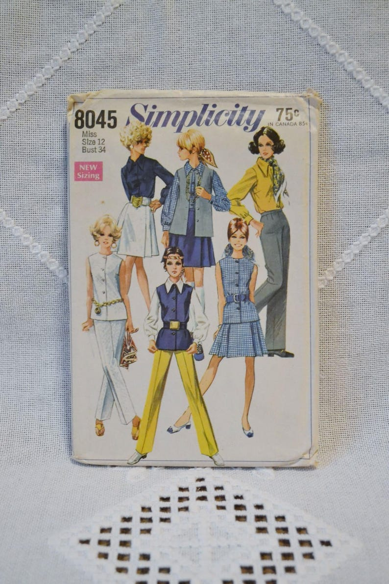 Vintage Simplicity 8045 Sewing Pattern Crafts Misses Skirt image 0