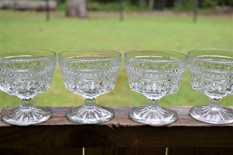 Vintage Wexford Tall Sherbet Glass Set of 7 Champagne Glasses image 0