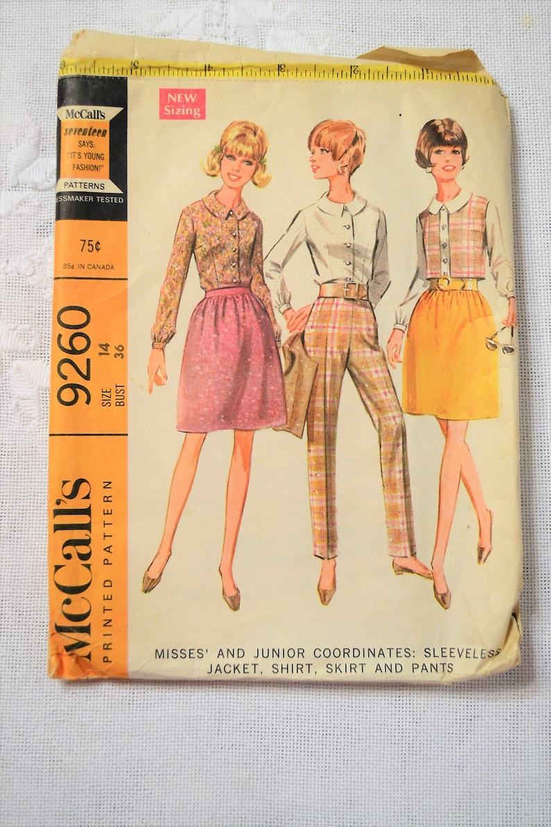 McCalls 9260 Sewing Pattern Misses Sleeveless Jacket Shirt image 0