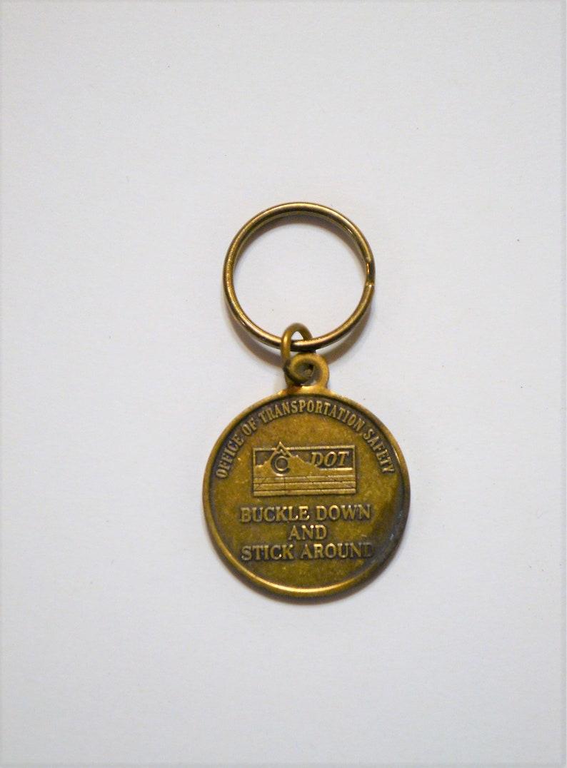 Vintage CDOT Key Ring Colorado Keychain Buckle Down Stick image 0