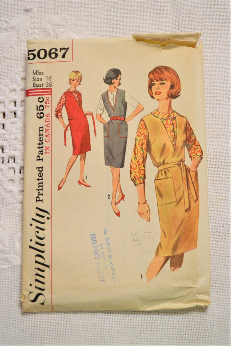 Simplicity 5067 Sewing Pattern Misses Jumper Blouse Size 16 image 0