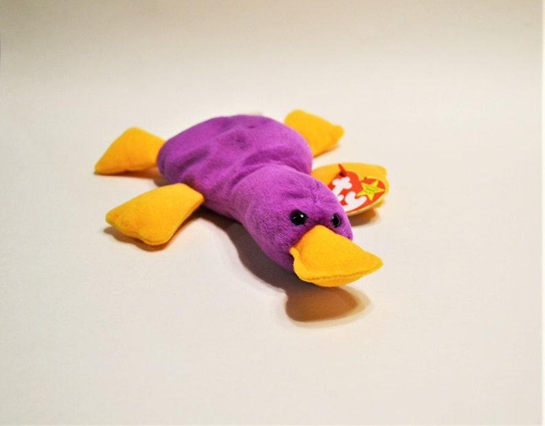 Vintage Ty Patti Beanie Baby Plush Toy Platypus Collectible image 0