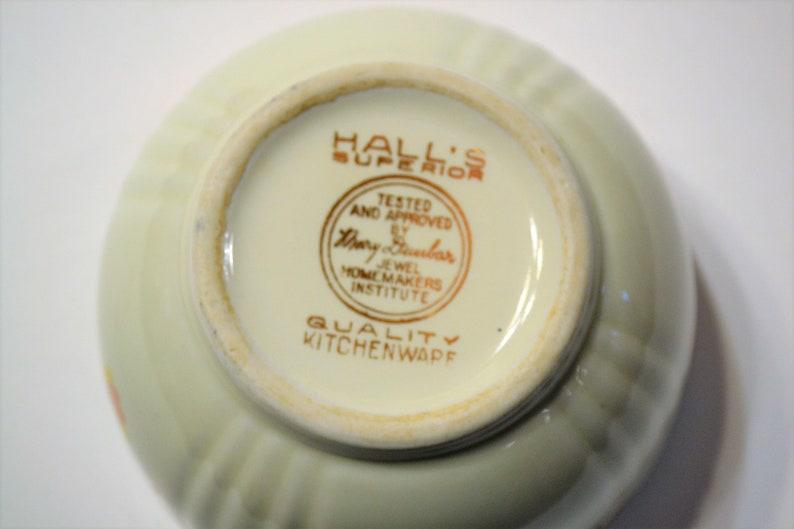 Vintage Hall Autumn Leaf Drip Bowl No Lid Jewel Tea Orange Gold Brown Leaves PanchosPorch