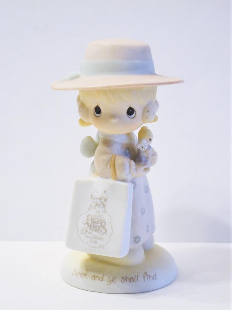 Precious Moments Seek and Ye Shall Find Figurine E0005 Vintage image 0