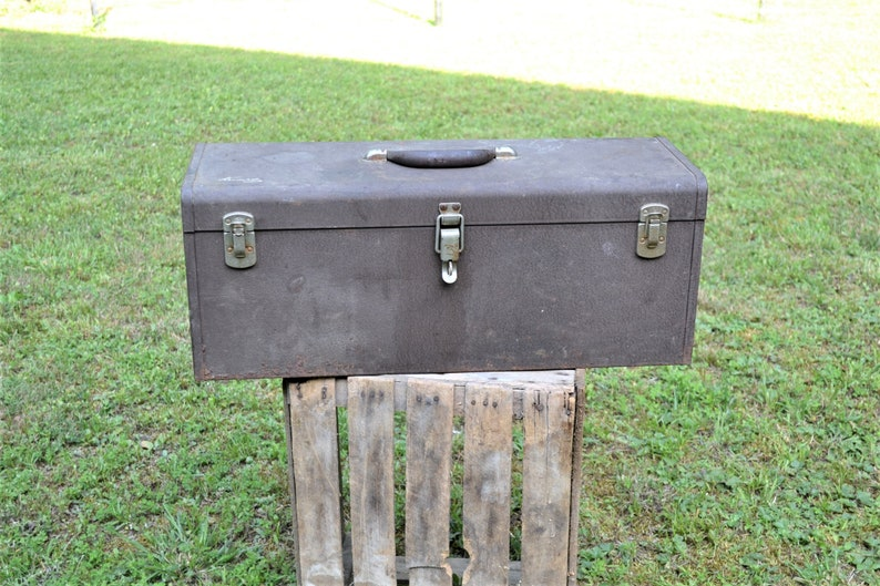 Vintage Kennedy Toolbox K24 Liftout Tray Gray Heavy Duty Gray image 0