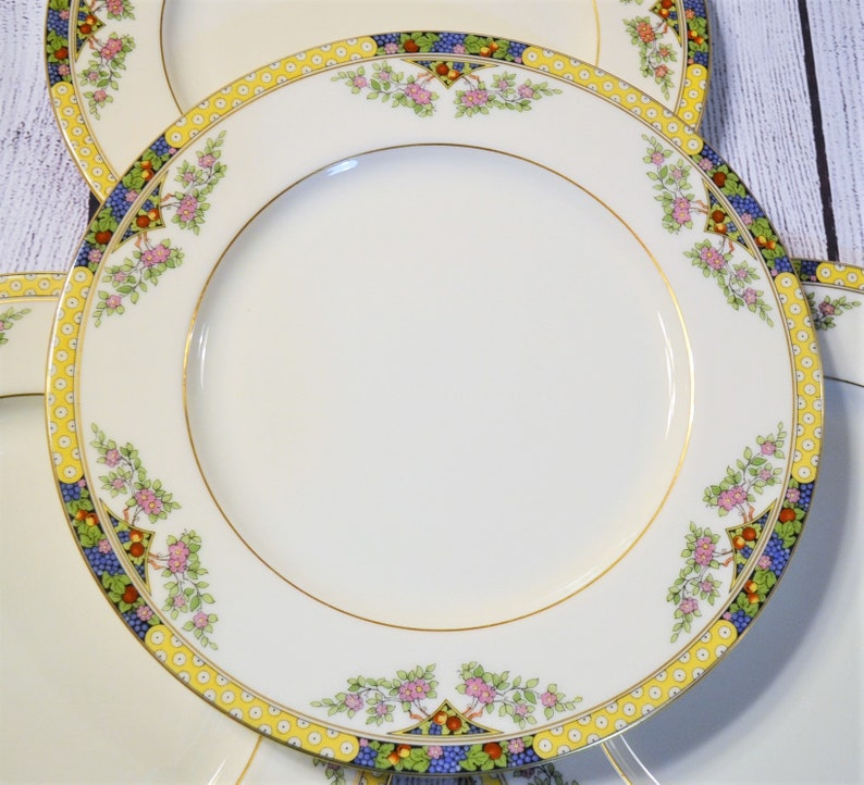 Vintage Lenox The Orchard Dinner Plate Set of 4 Fruit Flowers image 0