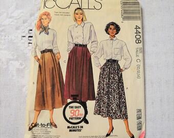 McCalls 4408 Sewing Pattern Misses Skirts Size 10 12 14 DIY Fashion Sewing Crafts PanchosPorch