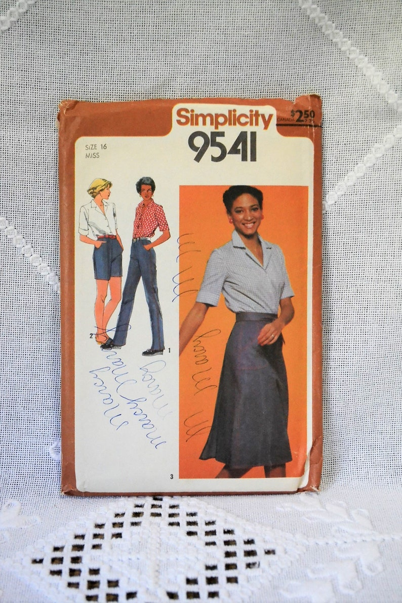 Simplicity 9541 Sewing Pattern Misses Wrap Skirt Top Pants image 0