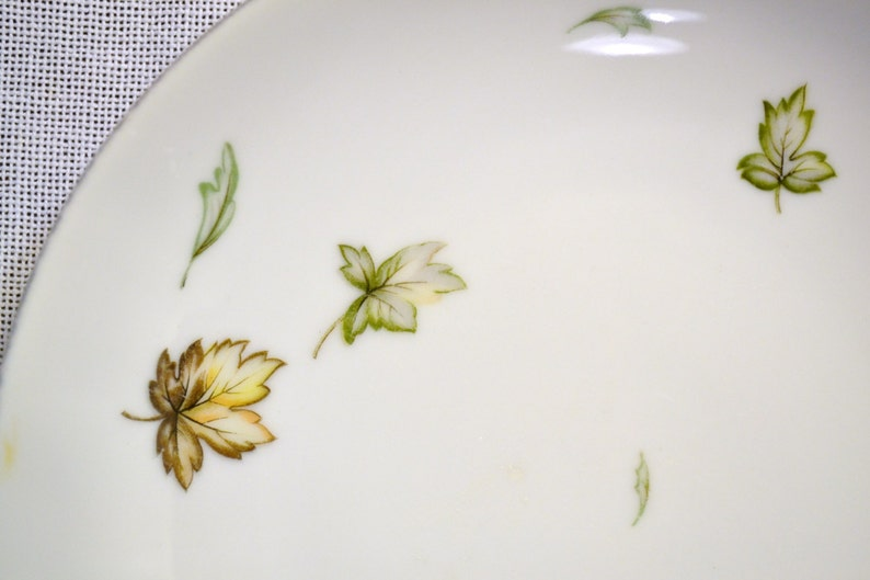 Vintage Harmony House West Wind Soup Bowl Leaves Green Gold image 0