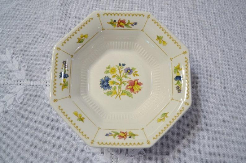 Vintage Nikko Cereal Dessert Bowl Set of 12 Floral Design image 0