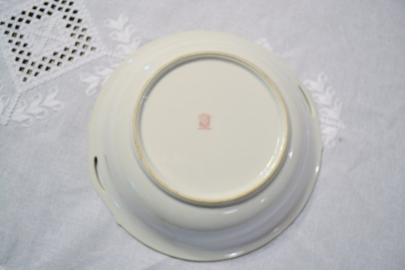 Vintage Noritake Hand Painted Bowl Morimura Gold Handles Japan PanchosPorch