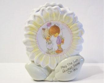 Precious Moments Vase May the Sun Always Shine on You Vintage Nursery Decor 1994 Collectible Figurine PanchosPorch