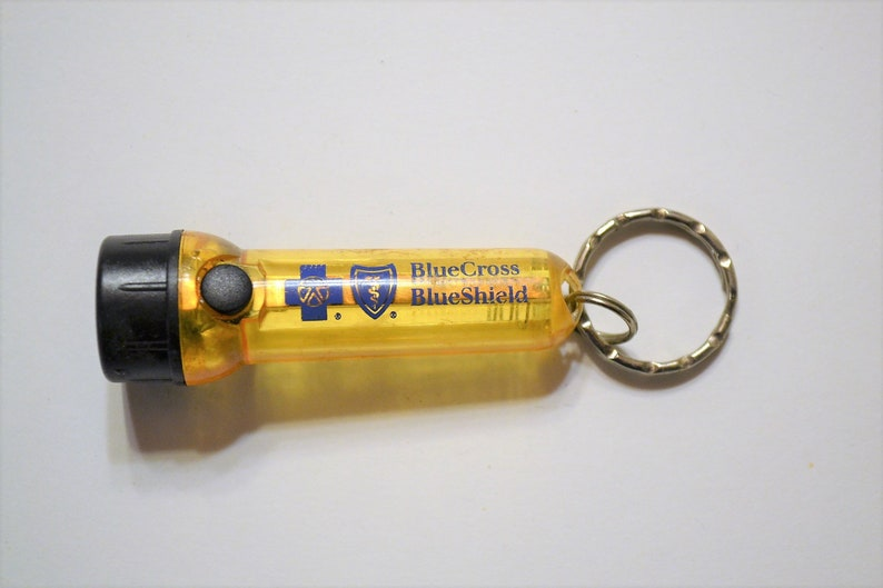 Vintage Advertising Flashlight Key Ring Blue Cross Blue Shield image 0