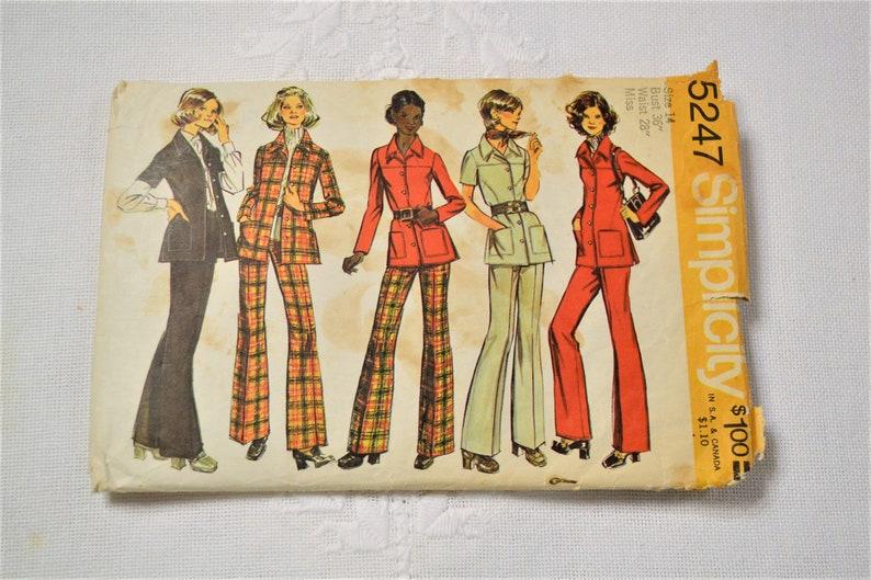 Simplicity 5247 Sewing Pattern Misses Shirt Jacket Pants Size image 0