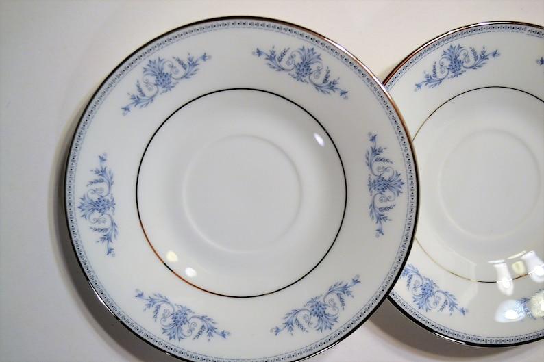 Vintage Oxford Bryn Mawr Saucer Blue White Floral Lenox USA image 0