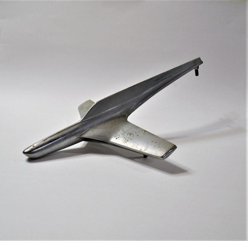 Vintage Plane Hood Ornament Original Airplane Rocket image 0