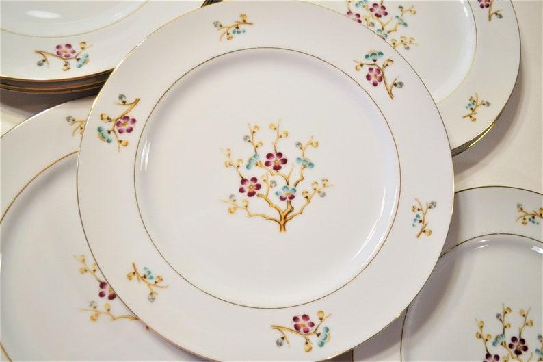 Vintage Narumi Early Spring Dinner Plate Set of 8 Flower image 0