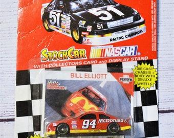 Vintage Bill Elliott 94 Diecast Car 1/64 Scale 1995 Trading Card Stock Car Racing Champions NASCAR Memorabilia Panchosporch