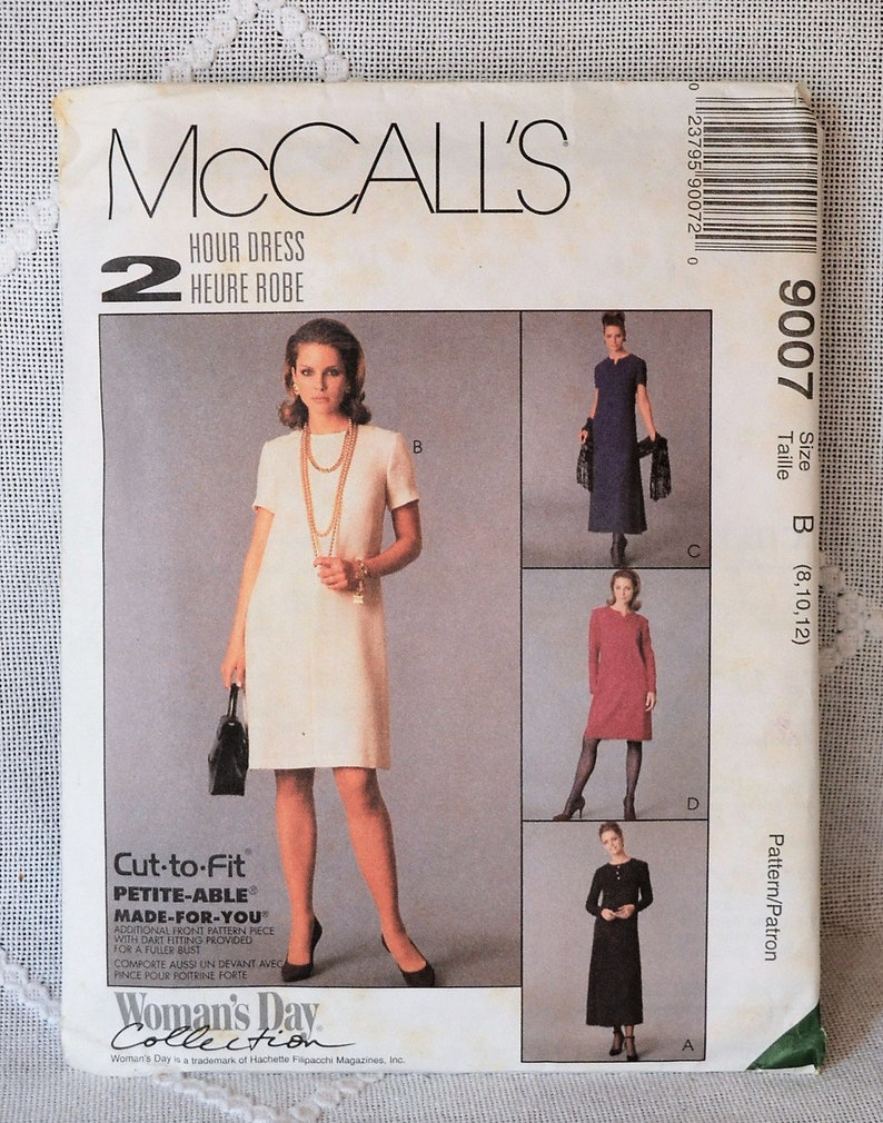 McCalls 9007 Sewing Pattern Misses Dress Size 8 10 12 Crafts image 0
