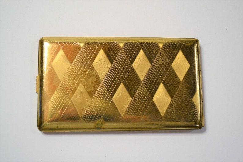 Vintage Elgin Gold Tone Metal Cigarette Case USA Panchosporch image 0