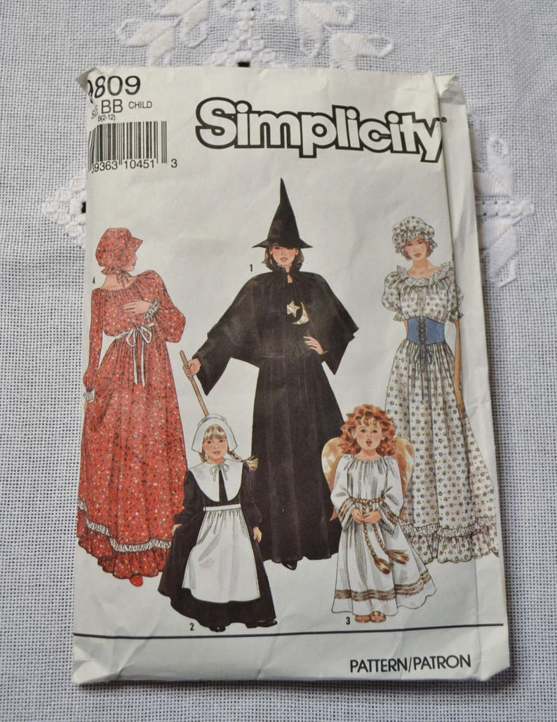 Vintage Simplicity 9809 Sewing Pattern Halloween Costumes image 0