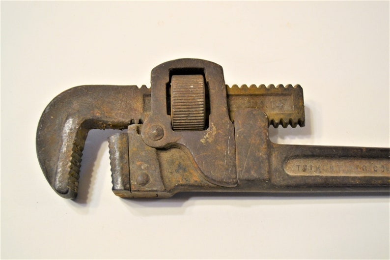 Vintage Trimont Mfg Co 14 inch Pipe Wrench Adjustable Monkey image 0