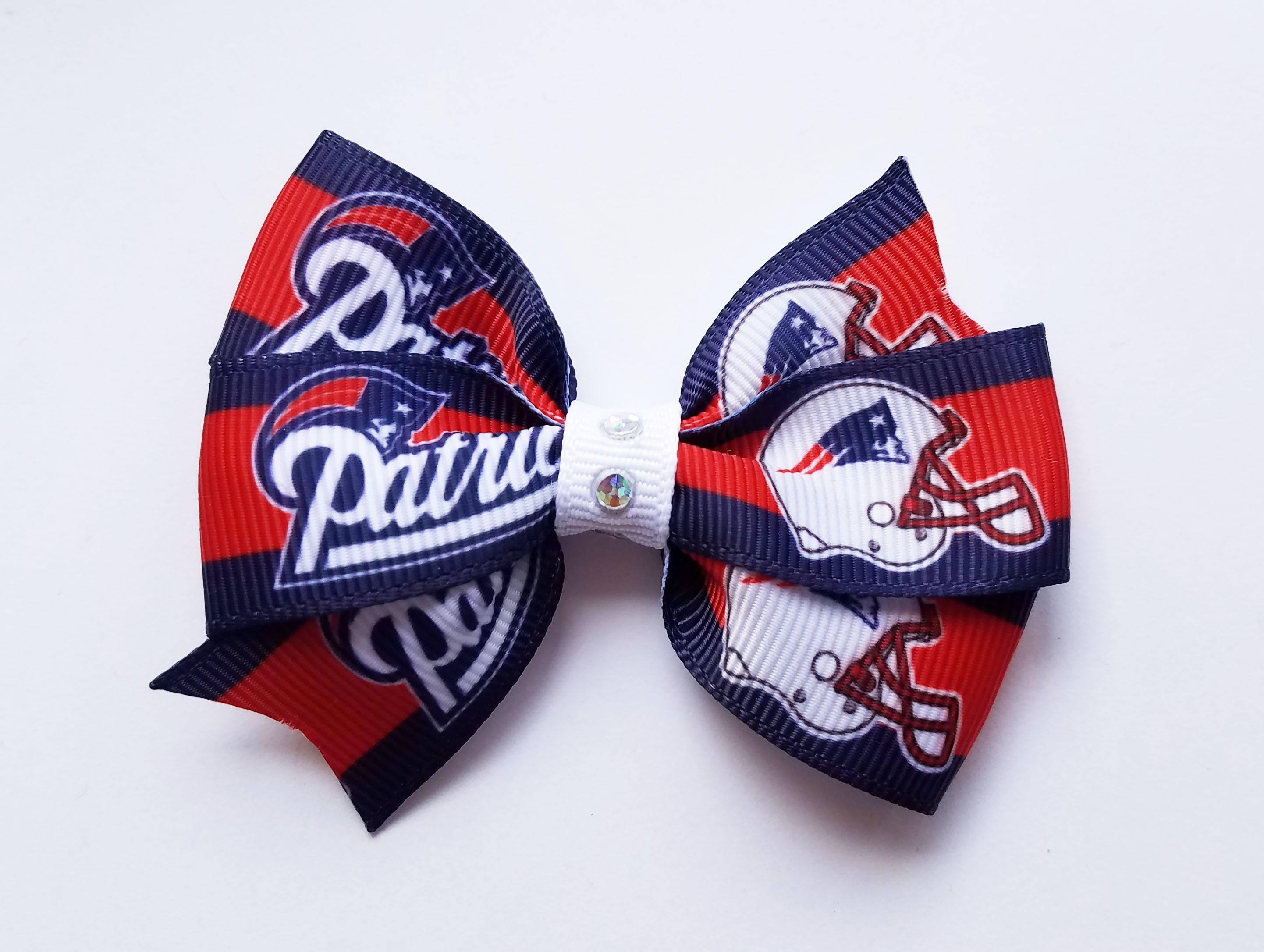 Patriots hair bow