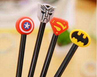 Superhero Pen/Comic Pen/Stationary Supplies/Cute Pens/Office Supplies /Novelty