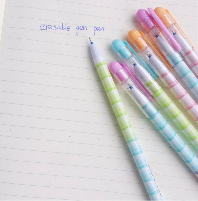 Watercolor Stripe PenGel PenKawaii PenParty FavorCute PensNovelty PenOfficeSchoolErasable PenErasable Gel PenOmbre Color