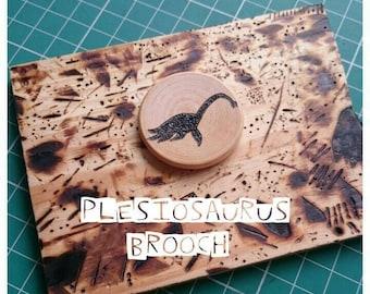 Plesiosaurus Brooch, Dinosaur Brooch