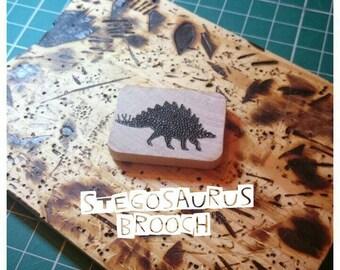 Stegosaurus Brooch, Dinosaur Brooch