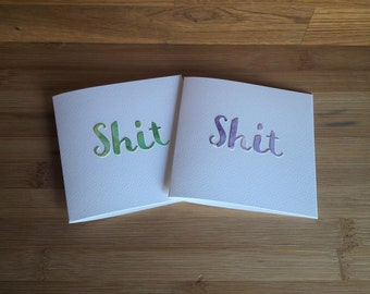 Shit Greeting Card