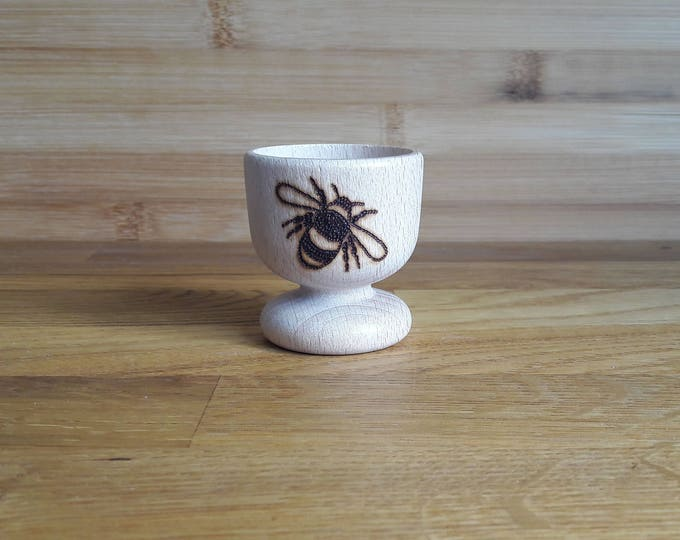 Featured listing image: Bumble Bee Wooden Egg Cup